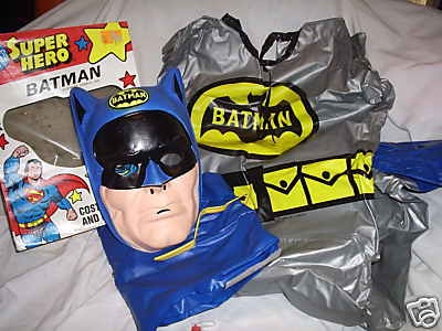and looking back on it donu0027t you think itu0027s rather silly they just had to put Batmanu0027s name on his chest and the Bat-symbol on his forehead ... & JCC - Anyone else remember those old pastic mask and vinyl smock ...